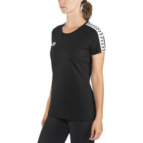arena Team T-Shirt Damen black-white-black